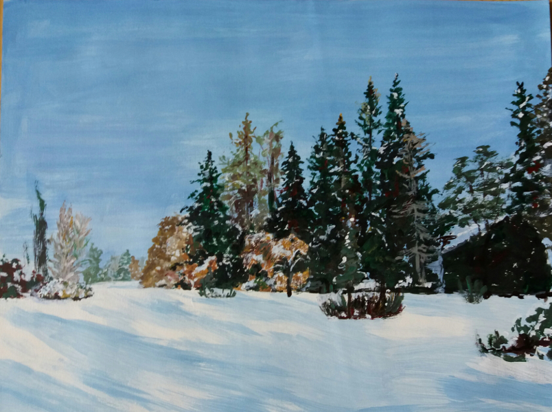 winterlandschaft Malen Kunstschule
