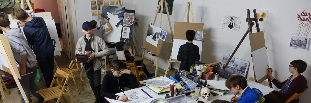 Teenager Malschule Atelier Berlin