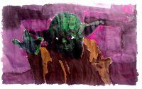 Yoda gemalt Kunstschule
