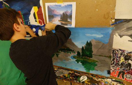 Schüler Malen Kunstschule