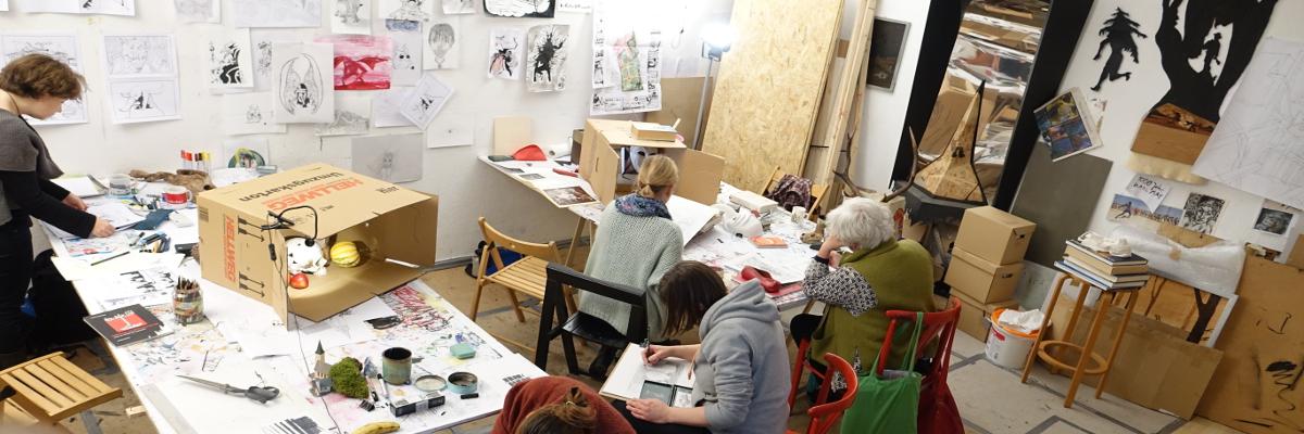 Erwachsene Atelier Berlin Malschule
