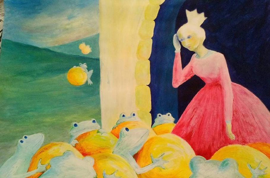 Froschkönig Malen Kunstschule