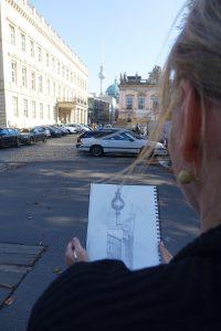 Zeichnung Fernsehturm DHM