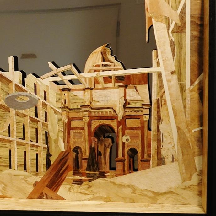Humboldforum als Ruine - Intarsie