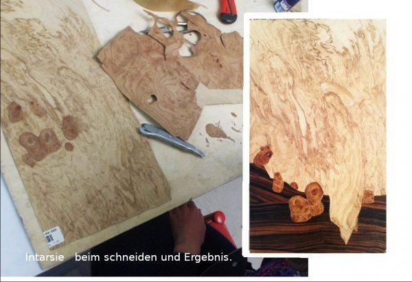 Intarsie Holz Furnier In Arbeit - Fertig