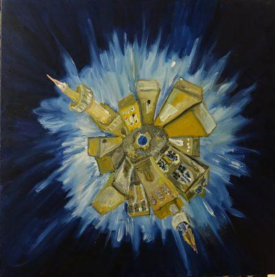 Gemälde Planet